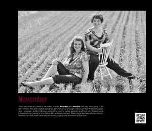Heather (l) and Jennifer (r) are dairy farmer sisters near Hagersville, Ont.